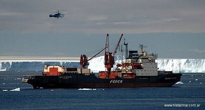 The russian polar ship Vasily Golovnin, with their Ka-32 Helicopters, used in the last 7 years, to supply argentine antarctic bases while the ARA Almirante Irizar is under reconstruction