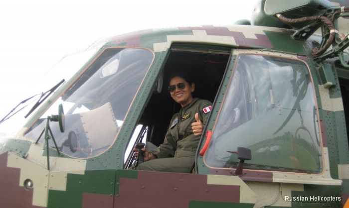 Peruvian Army Mi-171Sh pilot Melody Moon Torres:  I always wanted to help people
