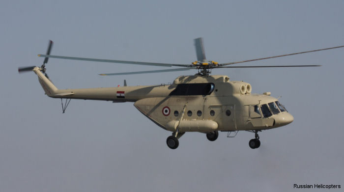 Russian Helicopters is preparing to provide after-sales service to Egyptian Air Force. The repair base in Heluane will be retooled in order to provide technical support to the Mi-8T and Mi-17-1V.
