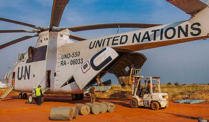 Mi-26T helicopters are participating in missions of the UN and the World Food Program in the Republic of South Sudan.