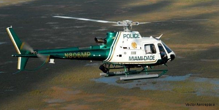 Vector Aerospace Helicopter Services North America (HS-NA) selected by Miami Dade County to provide dynamic component MRO support for the Miami Dade Police Air Support Unit AS350B3 fleet
