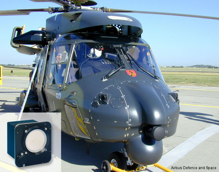 MILDS AN/AAR-60 Block II Missile Approach Warning system and an Australian MRH90 helicopter