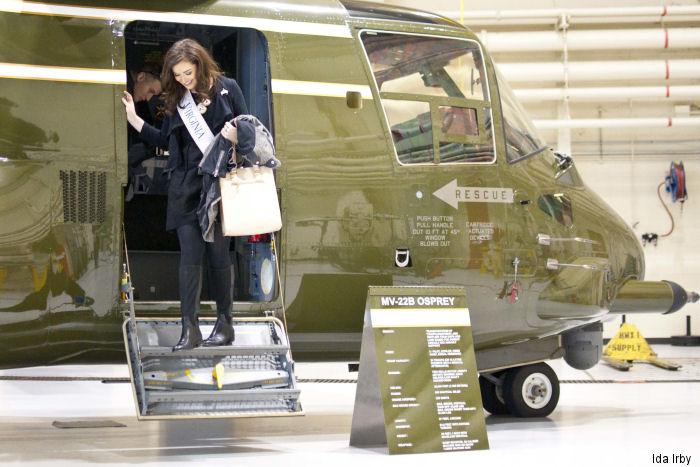 Miss Virginia 2015, Savannah M. Lane, visited Marines aboard Marine Corps Base Quantico, home of presidential squadron HMX-1