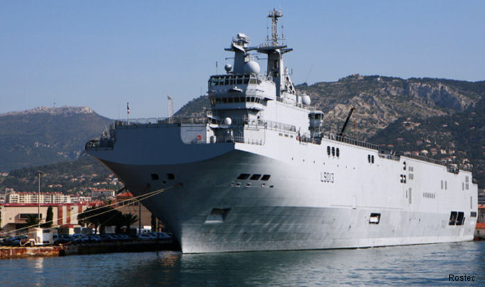 In August the contract of the <a href=/database/sys/224_Mistral_class/>Mistral helicopter carriers</a> for Russia was terminated. After returning all Russian equipment, France will be able to sell the helicopter carriers to another buyer.