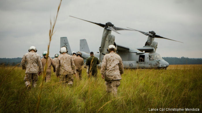 Four MV-22 Ospreys, two KC-130J Hercules tankers and almost 200 US Marines and sailors have effectively relocated to half of a continent away from their base in Moròn, Spain