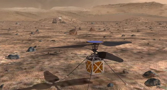 NASA JPL engineers are working on a small helicopter that could 'scout' a trail for future Mars rovers, but getting a chopper that could fly in the Martian atmosphere is tricky.