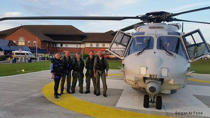 Belgium NH90 Kaaiman helicopter completed their first scramble rescue mission evacuating a ill cruise passenger in British waters
