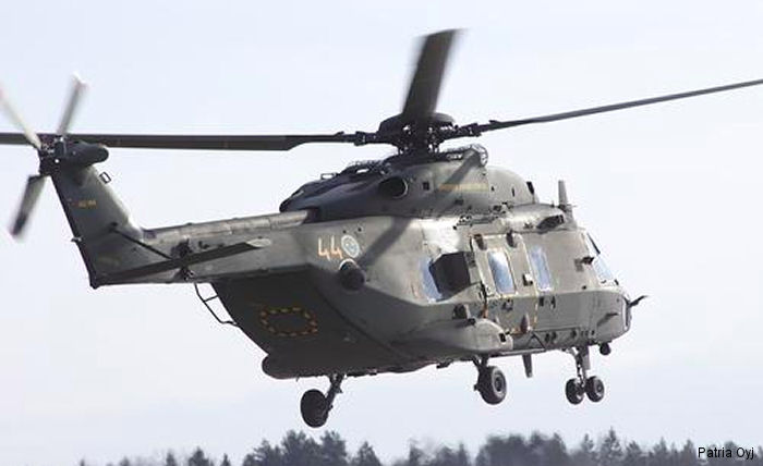 Patria Helicopters from Finland, a NH Industries (NHI) Authorized Nordic NH90 Service Center, has signed an agreement to supply NH90 spare parts for Swedish Armed Forces.