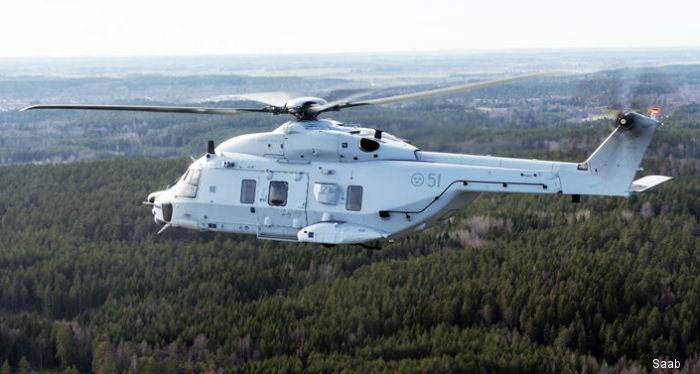 Saab has signed a contract to provide component maintenance for the tactical mission system (TMS) on NH90 helicopters (known as Hkp 14) of the Swedish Armed Forces.
