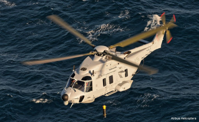 Sweden received first NH90 in full anti-submarine warfare (ASW) configuration. 13 Search and Rescue (SAR) and 5 ASW were originally  ordered but 4 SAR already delivered will be modified to ASW.