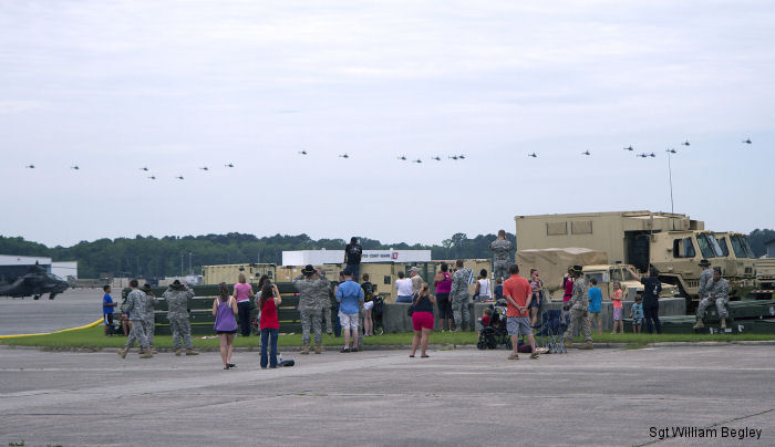 Pilots of 3rd Squadron, 17th Cavalry Regiment, 3rd Combat Aviation Brigade bid an emotional farewell to the OH-58D Kiowa Warrior scout helicopter during the final flight at Hunter Army Airfield May 13