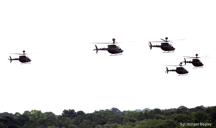 Retiring a legend: 3rd CAB salutes Kiowa helicopter during final flight