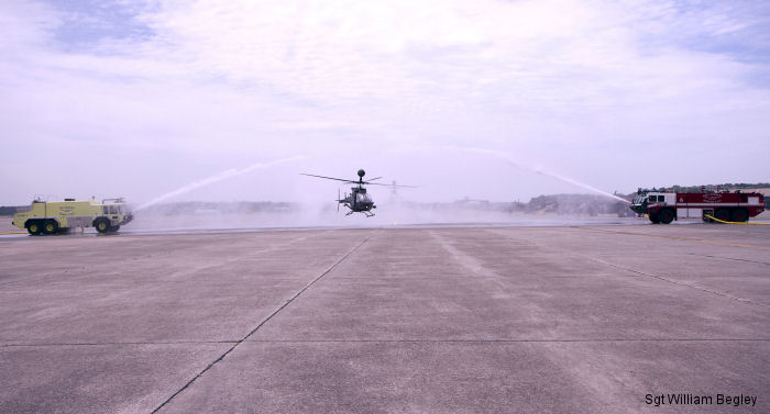 3rd CAB Salutes Kiowa Helicopter During Final Flight