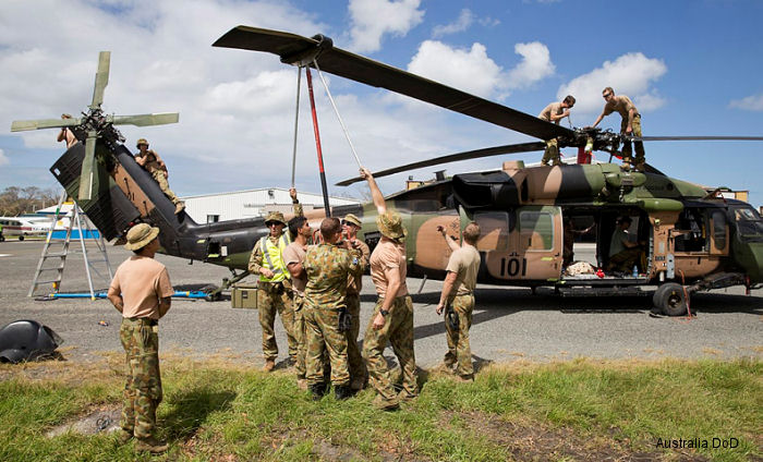Two Army S-70 Black Hawk arrived in a RAAF C-17 transport