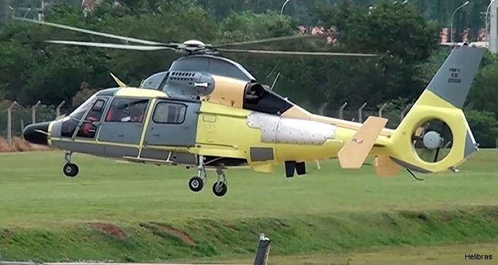 Helibras performed the first flight of a Brazilian Army Pantera (Panther) helicopter fully modernized by the company in Brazil.