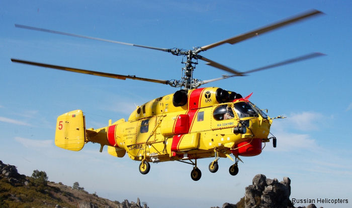 The multirole Ka-32A11BC produced by Russian Helicopters is actively involved in fire-fighting operations in Spain, Portugal, and other countries within Europe.