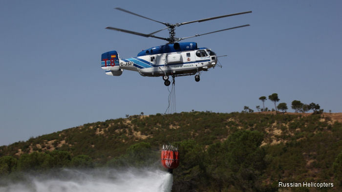 Russian helicopters boost Europe fire defences