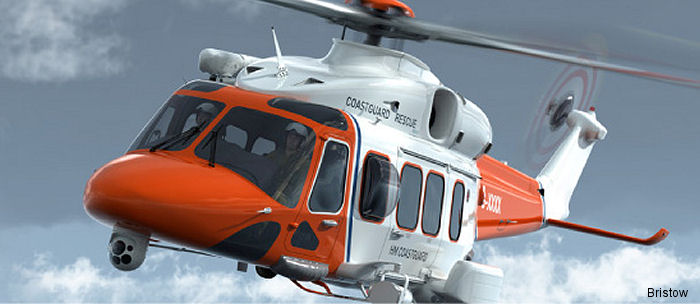 Glasgow Prestwick Airport HM Coast Guard rescue base will operate two AW189 helicopters from January 2016