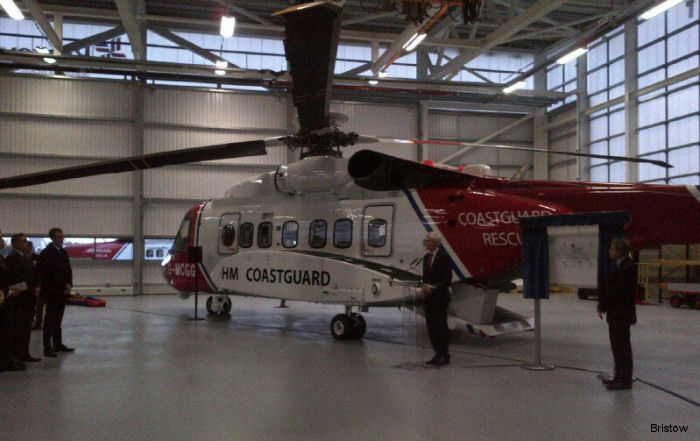 The launch of the Prestwick civilian UK search and rescue (SAR) helicopter service was marked in a ceremony held at the new Coastguard SAR base at Prestwick Airport.