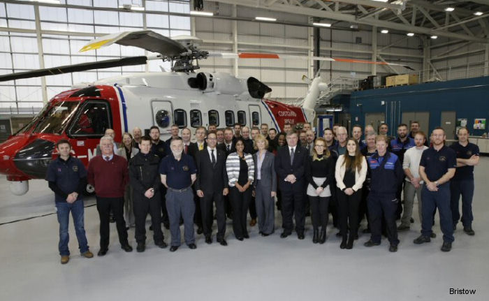 UK SAR Prestwick Bristow team