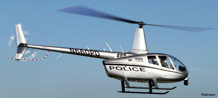 The R66 Turbine Police Helicopter has been reconfigured to include a multitude of upgrades including new autopilots and navigators