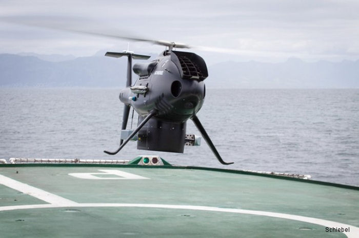 Schiebel's Camcopter S-100 Unmanned Air System (UAS) performed shipboard trials with the South African Navy hydrographic survey  vessel  <a href=/database/unit/755/>SAS Protea</a> at False Bay, Western Cape