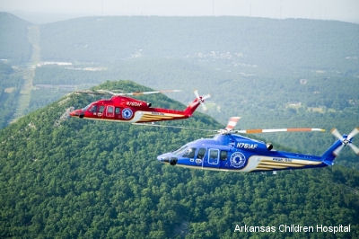 Sikorsky delivered two S-76D helicopters for air medical transportation to Arkansas Children's Hospital.