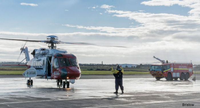 New Search and Rescue Helicopter Arrives at Prestwick