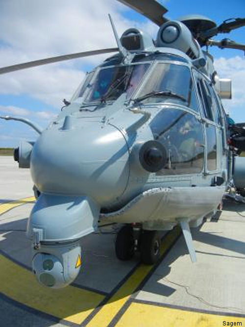 Sagem will upgrade Euroflir 350 optronic systems on the French army s Cougar helicopters, and the Caracal fleet deployed by France s special and conventional forces.