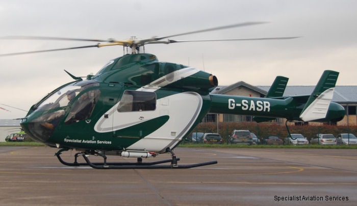 Specialist Aviation Services Ltd reveal its new corporate helicopter livery as part of its company re-branding.