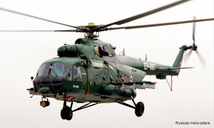 Russian Helicopters  in the V International defence technology and prevention of natural disasters exhibition SITDEF 2015,  Lima, Peru. <a href=/database/modelorg/2715/>Ejercito Peruano</a> Mi-171sh