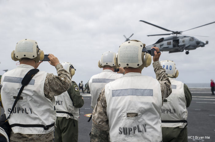 Carrier Air Wing CVW-2, embarked aboard USS George Washington (CVN 73) and the Chilean Air Force (FACh) are conducting exercise Blue Sky (BS) V as part of Southern Seas 2015, Oct. 9-23.