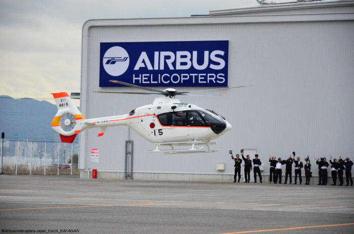 The Japan Maritime Self-Defense Force (JMSDF) received the last 2 TH-135. Based on the EC135T2i, 15 training helicopters were first ordered in 2009 and began operations in 2011.