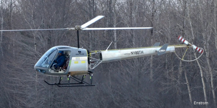 Enstrom Helicopter's TH180 took its first flight February 6th