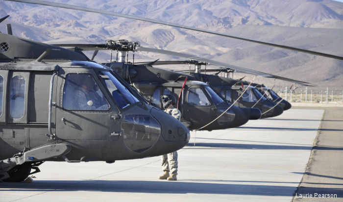 They will retain seven UH-60A+ Black Hawks