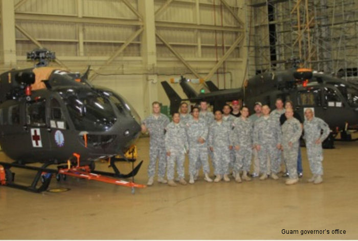 The Guam Army National Guard received two UH-72A Lakota helicopters marking the first time aircraft have been part of the military unit s assets