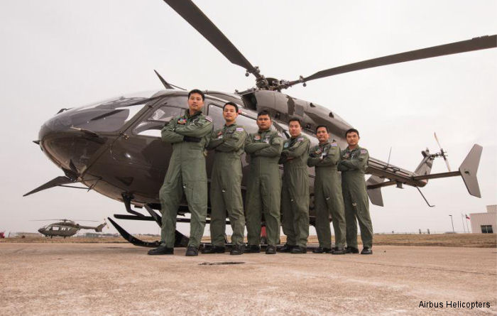 Initial group of 6 pilots and 10 maintenance technicians from the Royal Thai Army have completed training to fly and maintain the UH-72A Lakota in Grand Prairie, Texas.