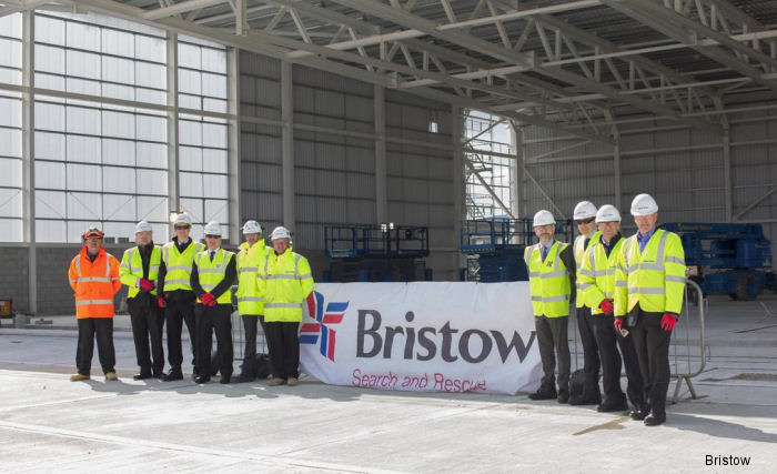 A traditional topping off ceremony took place to mark the ongoing construction of the new search and rescue (SAR) helicopter base at Newquay Cornwall Airport.