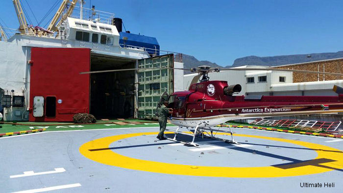 Ultimate HELI is operating an Airbus Helicopters AS350B3 during the summer season in Antarctica from January to April 2015.