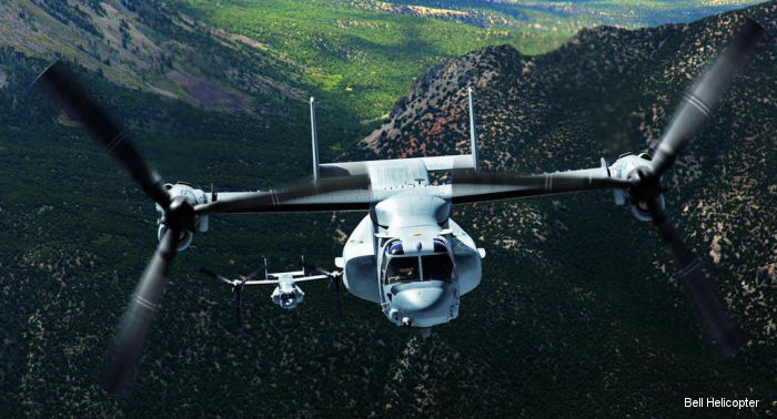 Bell Boeing was awarded a US Navy contract for 5 Block C V-22 Osprey tiltrotors for the Japan s Ground Self-Defense Force through the U.S. government's foreign military sales program.