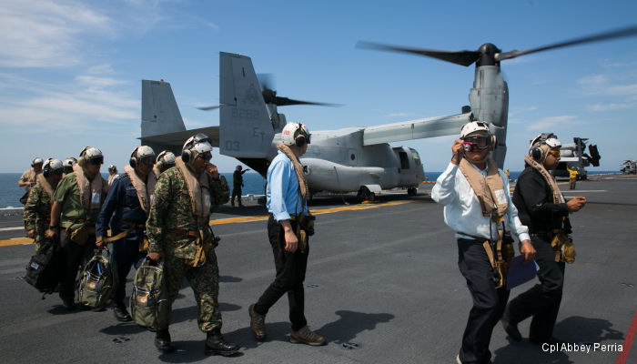 Malaysian Offcials observed a amphibious air-ground demonstration  theater security cooperation event by the 31st Marine Expeditionary Unit Feb. 27.