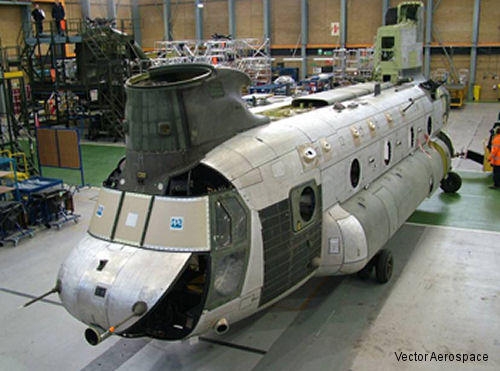 Vector Aerospace and Boeing bring RAF Chinook back to life