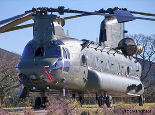 Vector Aerospace Repaired RAF Chinook