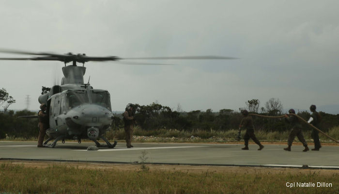 Marine Wing Support Squadron MWSS-172 during Blue Chromite exercise, in Landing Zone Phoenix, Camp Schwab, Okinawa, Japan