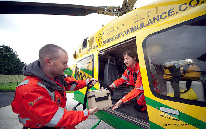 Wiltshire and Great Western air ambulances carries supply of precious life saving blood