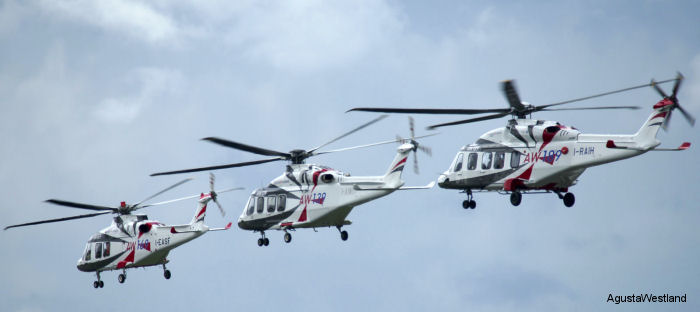 Waypoint Leasing from Ireland agreed to acquire an additional 18 helicopters from the AW Family, including the AW169, AW139 and AW189  to be delivered from 2016 through 2019.