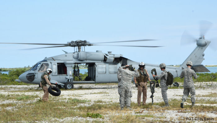 US Navy MH-60S Seahawk from <a href=/database/sqd/2005/>NAS Key West SAR Team</a> training with Florida Guardsmen