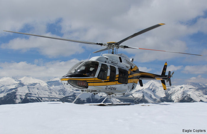 Eagle Copters delivered two Eagle 407HP ( Bell 407 powered with a Honeywell HTS900 engine ) to Yellowhead Helicopters Ltd