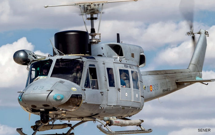 The Spanish Navy takes delivery of the second helicopter in the AB212 Life Extension Program