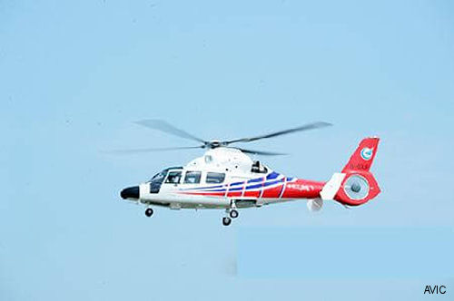 AVIC AC312E helicopter takes to the skies